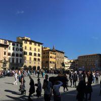 La plaza de la Signoria a través de los siglos. Florencia Italia