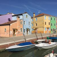 Burano, Los colores de la laguna de Venecia.