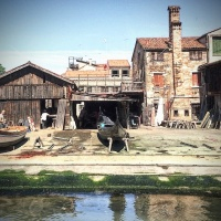 Lo Squero, donde nacen las Gondolas. Venezia, Italia.