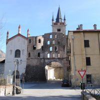 La puerta Romana de Susa, Piamonte, Italia.
