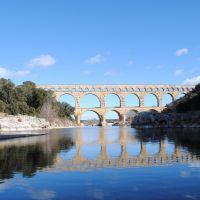 El acueducto Romano de Pont du Gard, Francia
