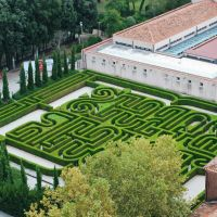 The Borges labyrinth one of the most beautiful Italian gardens. Venice.