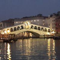 Video: El Puente de Rialto de noche. Venecia.