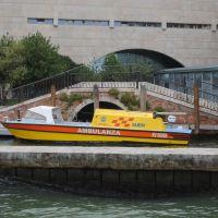 Embarcaciones curiosas en Venecia.