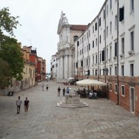Detalles del campo dei Gesuiti. Venezia, Italia.